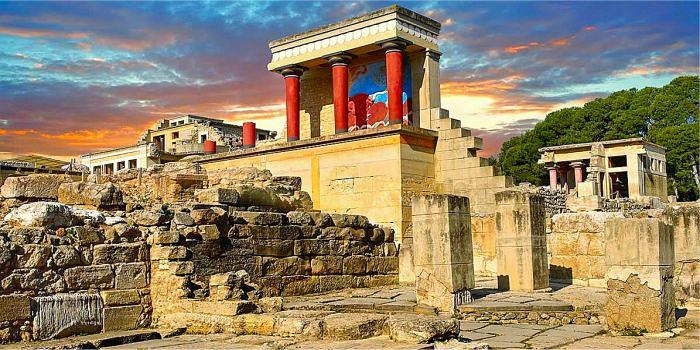 Il sito archeologico di Cnosso, Creta
