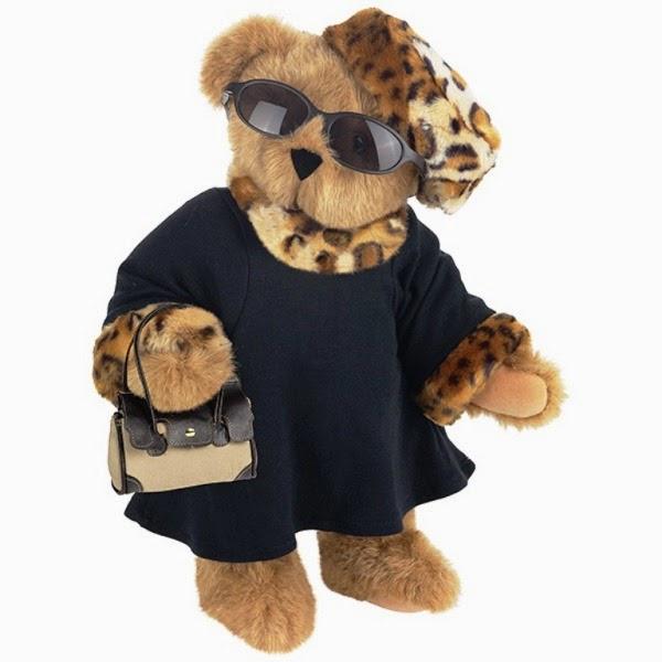 Boneka beruang pakai kacamata gaul abis