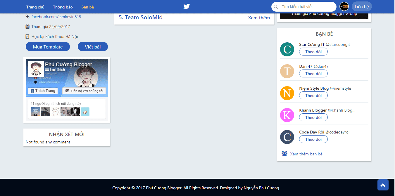 Twitter-Template-Blogger-Version 4.5