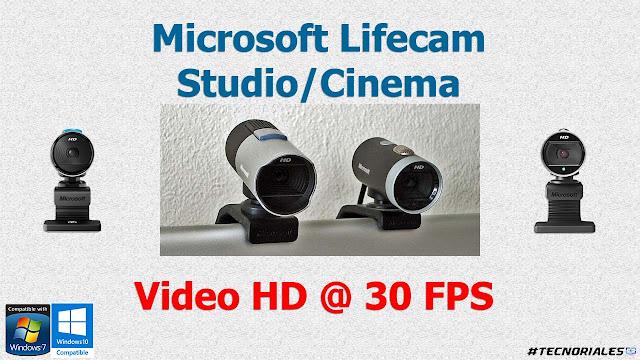 Lifecam studio y cinema video hd a 30 fps