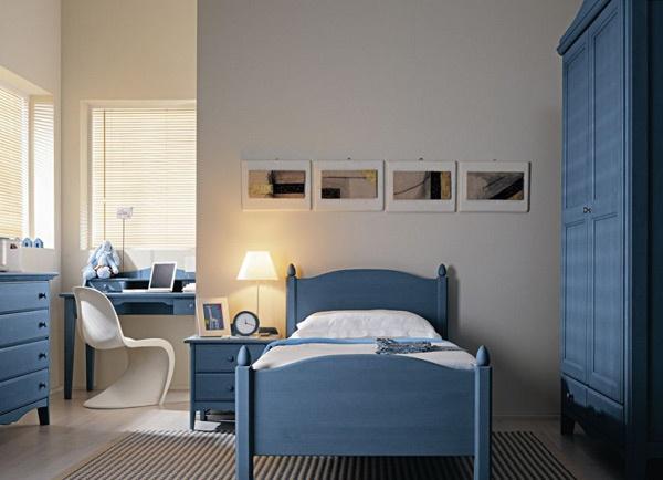 Dormitorio azul para jovencito adolescente dormitorios for Cuartos pintados de azul