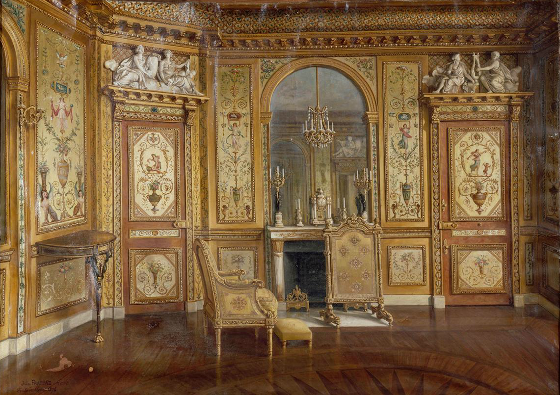 boudoir at fontainebleau Marie antoinette is sometimes credited for refining the a good example of her taste in terms of decorative arts is her boudoir at the royal palace of fontainebleau.