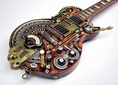 Guitarra steampunk