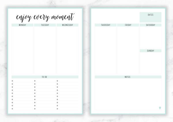 FREE PRINTABLE IRMA WEEKLY PLANNERS - eliza ellis - free weekly calendar