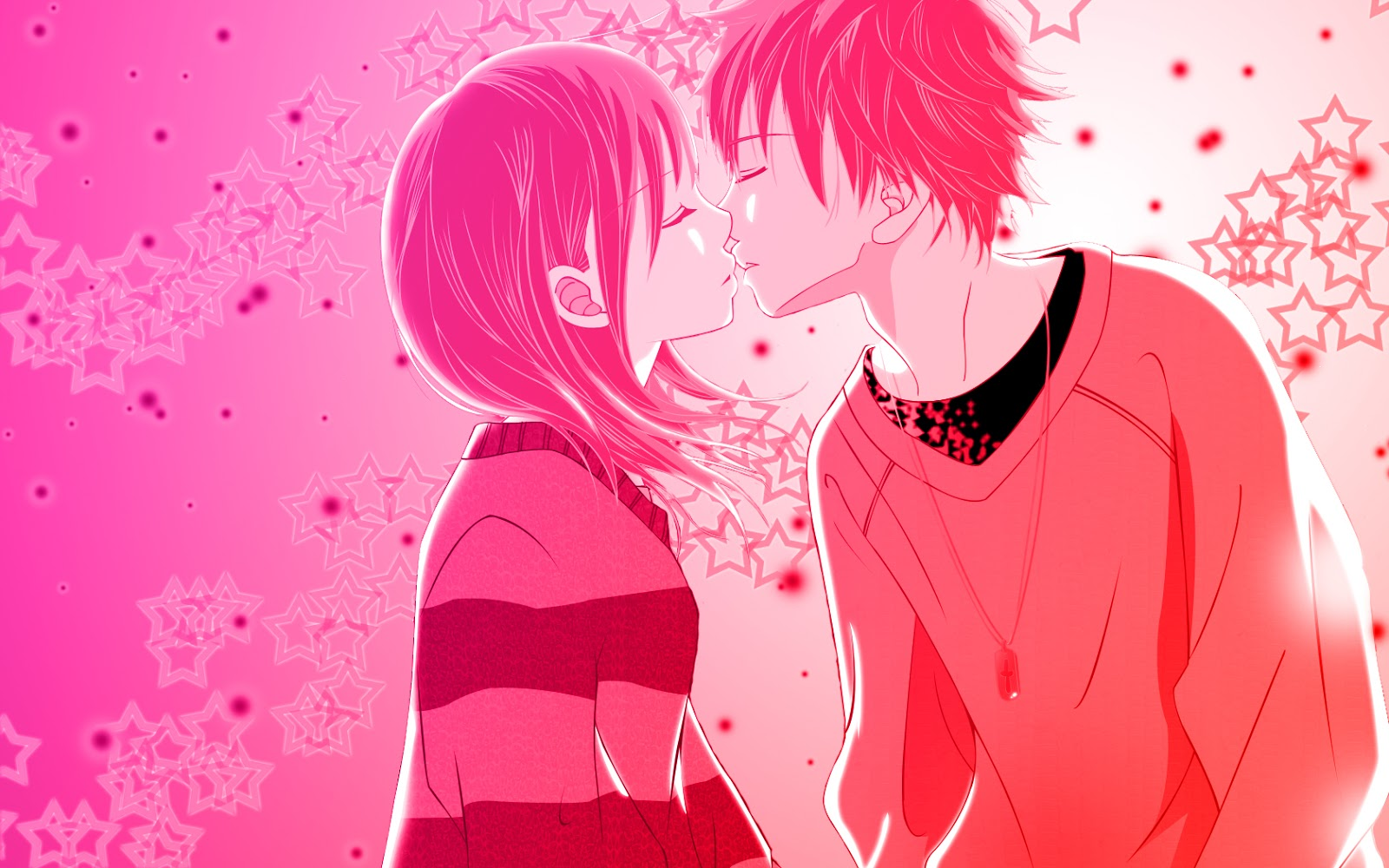 romance anime love couple kissing images hd
