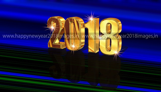 Happy New Year 2018 3D Images download