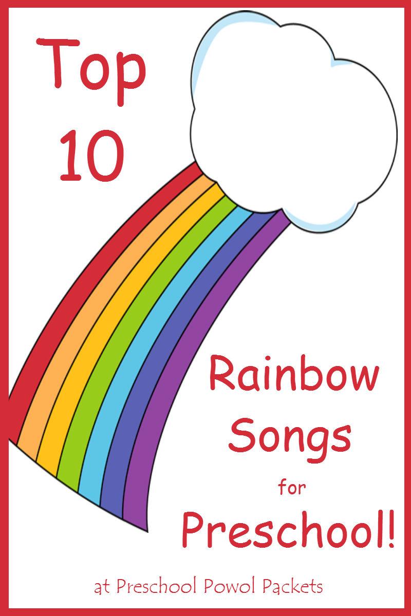 top 10 rainbow preschool songs preschool powol packets