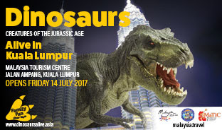 NEW JURASSIC DINOSAURS ATTRACTION COMES TO LIFE AT MaTiC KUALA LUMPUR