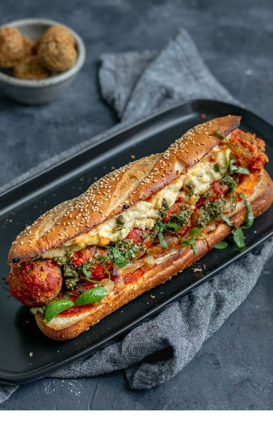 Vegan Chickpea Meatball Subs With Homemade Mozzarella