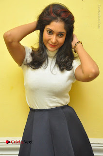 Telugu Actress Sindhu Affan Latest Pos in Black Skirt at Www.Meena Bazaar Movie Opening  0012.JPG
