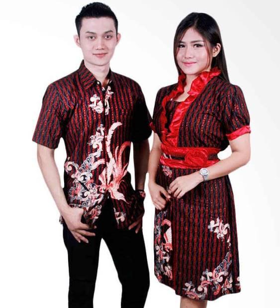 10 Model Baju Batik Sarimbit Modern Terbaru 2018