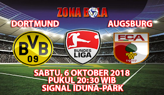 Prediksi Bola Borussia Dortmund vs Augsburg 6 Oktober 2018