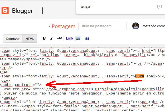 como-inserir-audios-no-blogger-com-o-dropbox