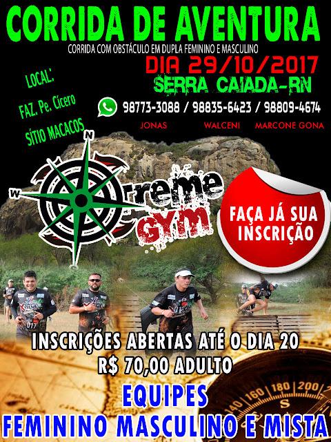 Serra Caiada recebe domingo (29) primeira Corrida de Aventura com obstáculo Xtreme Gym