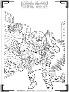captain america civil war captain america vs crossbones coloring pages