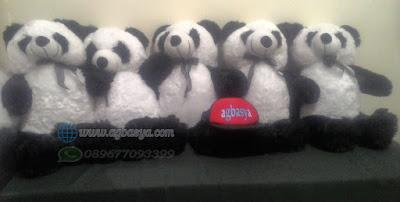 Boneka teddy bear XL hitam putih