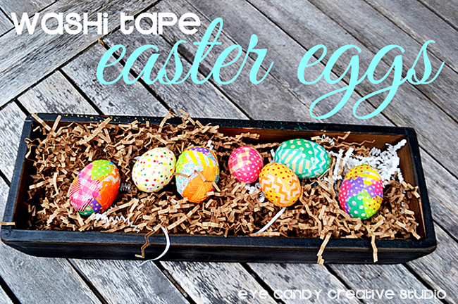 washi tape easter eggs, using washi tape on easter eggs, washi tape craft