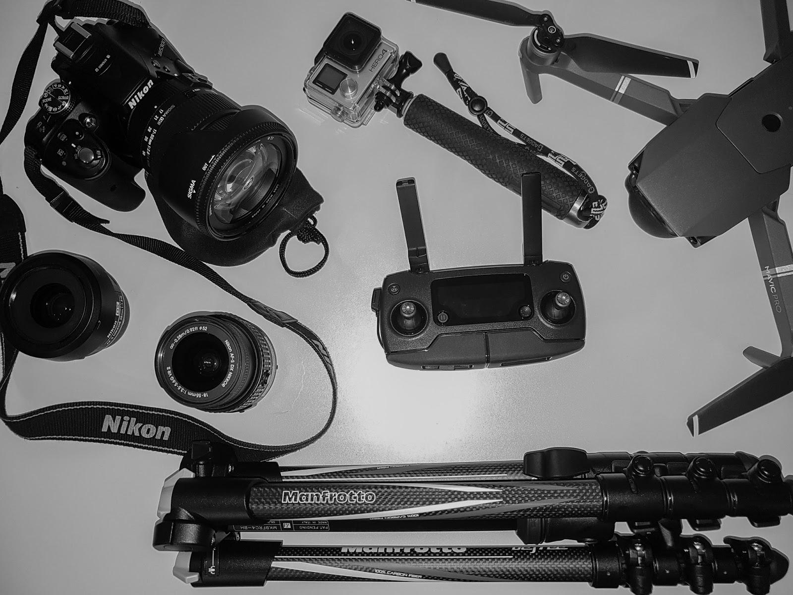 equipamentos fotografia nikon drone dji