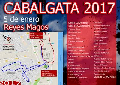 Cabalgata de Reyes Magos de San Juan de Aznalfarache 2017 - Itinerario