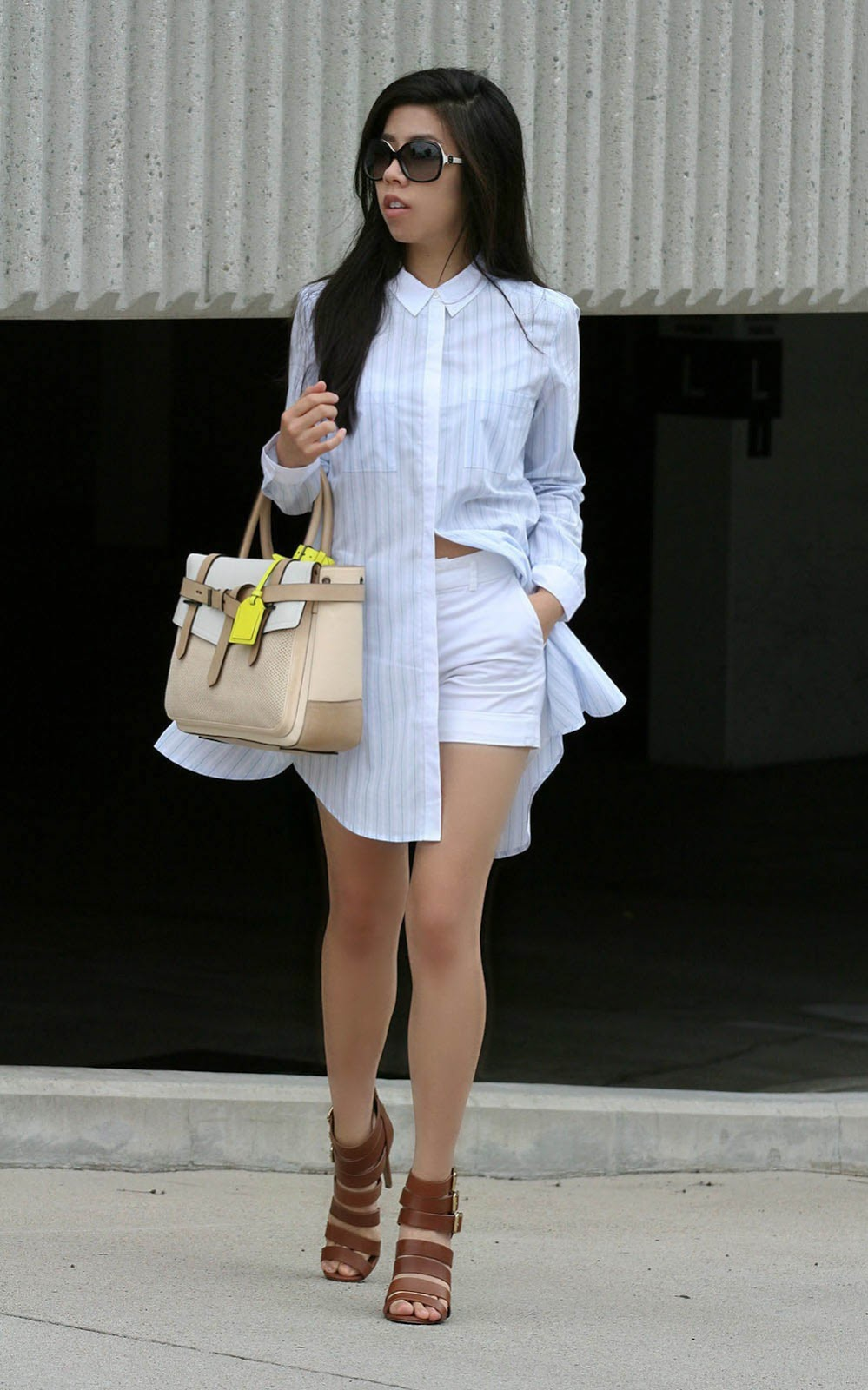 How to wear a Shirtdress _ Lampshading Trend_Celebrity Fashion Tips_Adrienne Nguyen_Invictus
