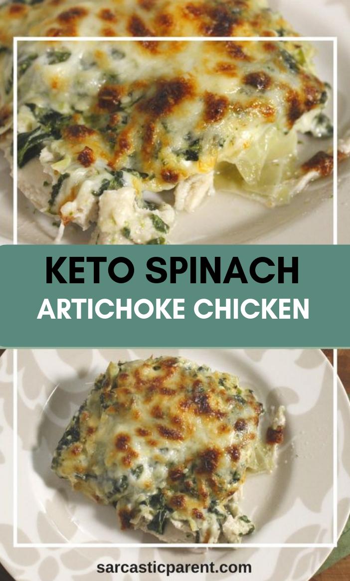 Keto Spinach Artichoke Chicken #eathealthy #fooddiet