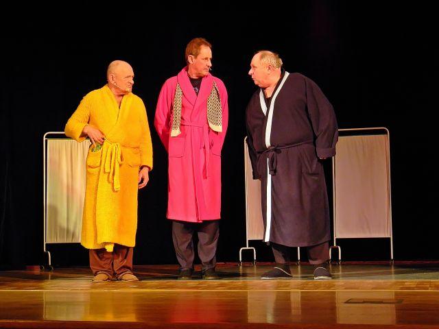 Andropauza, występ, sztuka, trzej panowie