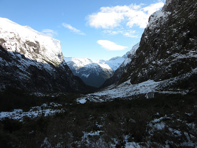 Paso de montaña. Parque Nacional Fiordland, Nueva Zelanda