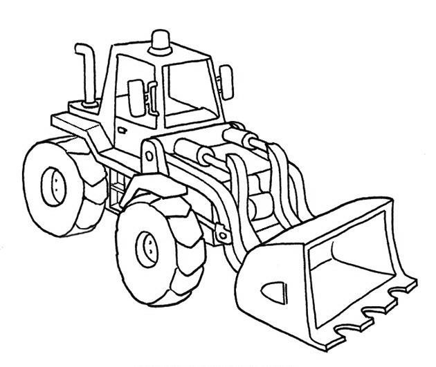 Imágenes De Un Tractor Para Colorear Imagui