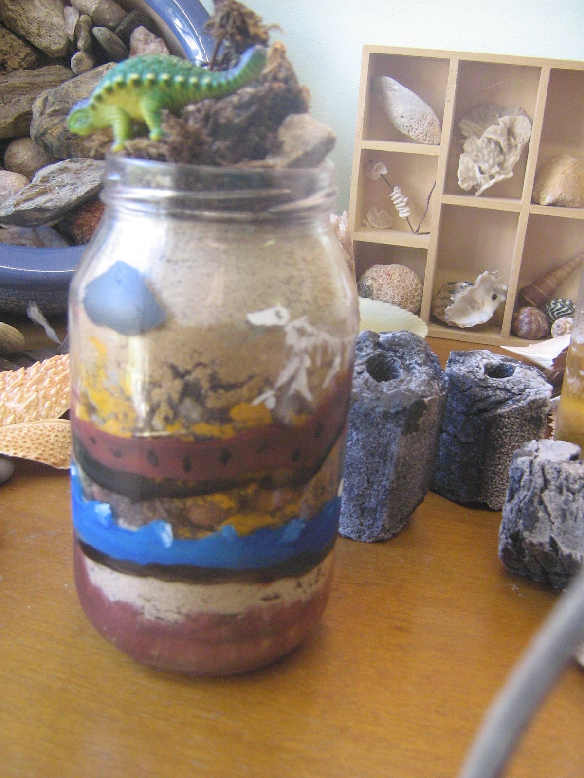 layers of soil in a jar-#16