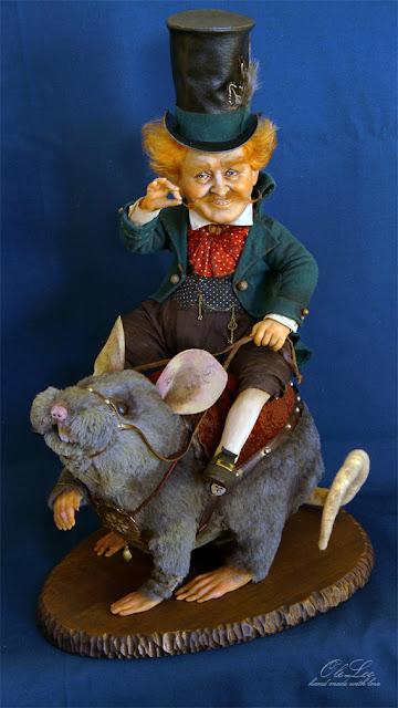крыса кукла куклы оксаны панченко oleloo портретная кукла doll интерьерная кукла на заказ по фотографии оберег для дома хранят ключи от счастья и кладовок