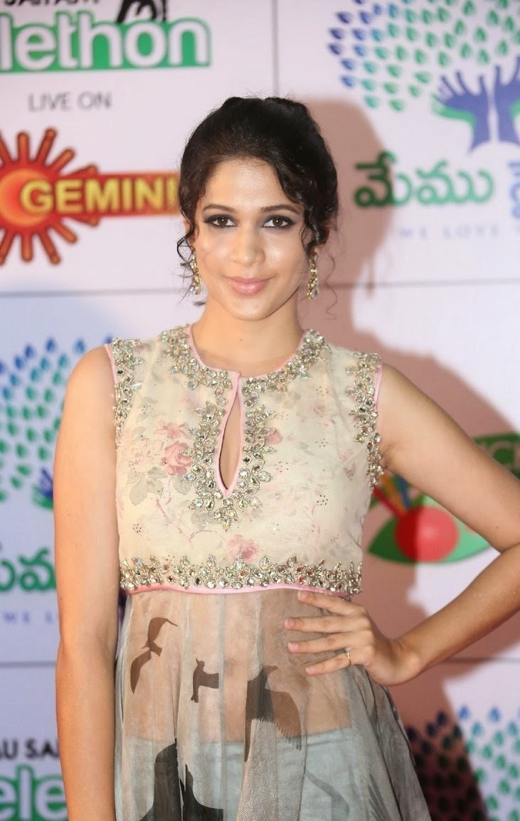 Actress Lavanya Tripathi Latest Cute Hot Exclusive Beautiful Spicy Photos Gallery At Memu Saitam Dine With Stars Event