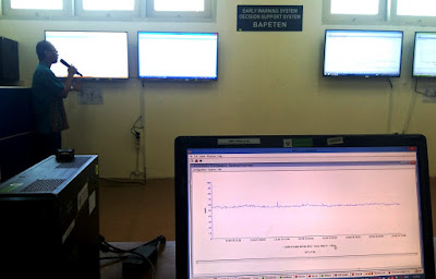 Ruang Kontrol BAPETEN ini berfungsi untuk decision support system dan early warning system