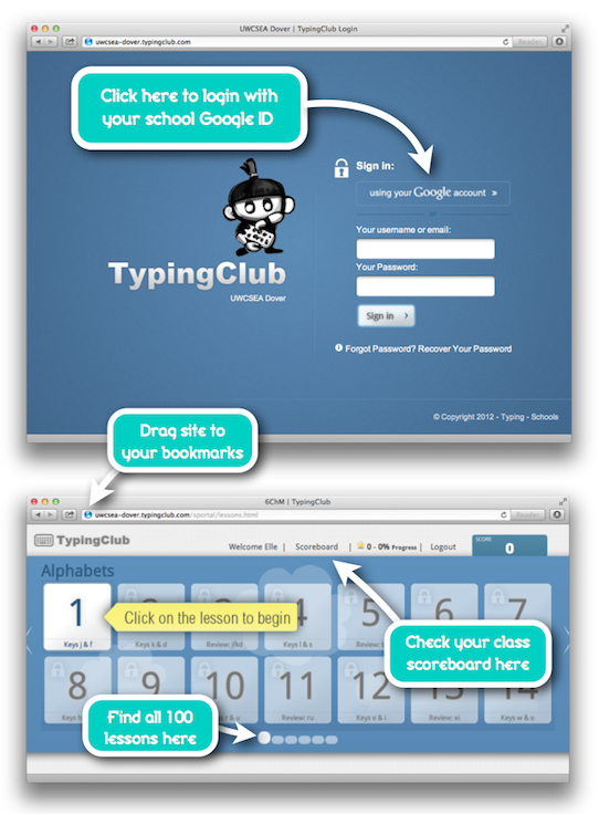 Typing Club - our touch typing tutor - Digital Literacy Dover