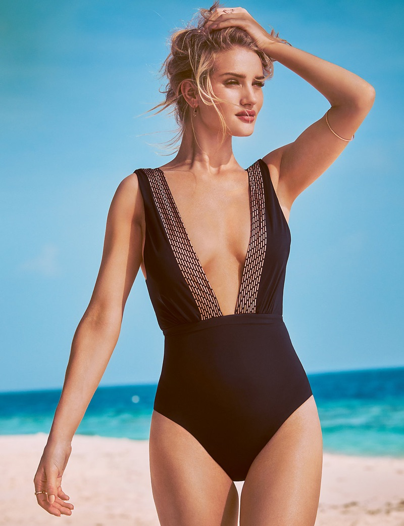 Rosie Huntington-Whiteley models the Marks and Spencer ...