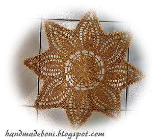 Serwetkowa gwiazda śr. 42 cm :-) Zrób razem ze mną :-)