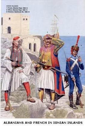 Albanians and French in Ionian Islands