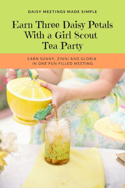 Earn Three Daisy Petals With a Girl Scout Tea Party
