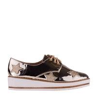 Pantofi casual dama aurii piele lacuita