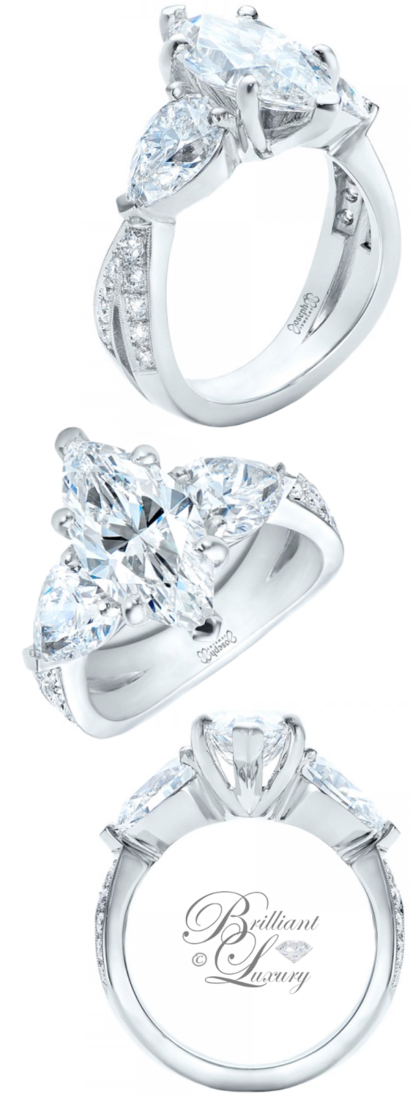 Brilliant Luxury ♦ Joseph Jewelry Custom Marquise Diamond Engagement Ring
