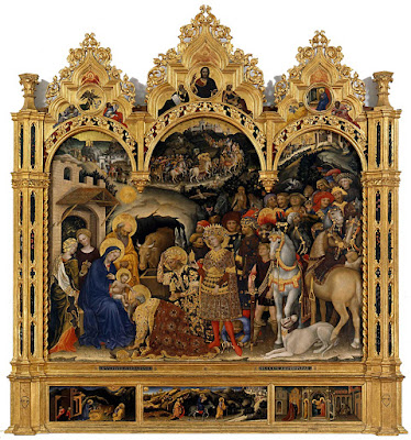 Adoración de los Magos (1423) - Gentile da Fabriano  - Galería de los Uffizi - FLORENCIA