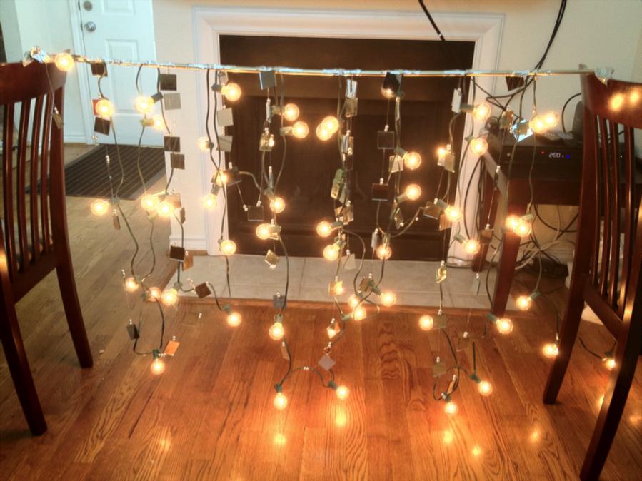 Savey Crafty Diy Mirror Garland Lights