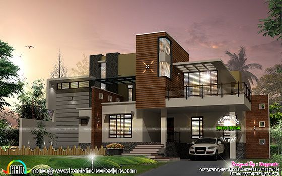 Full contemporary house architecture