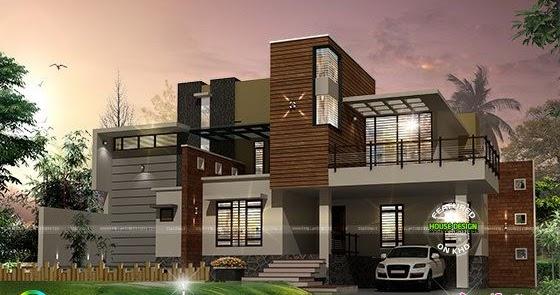 Full Contemporary House Architecture Kerala Home Design