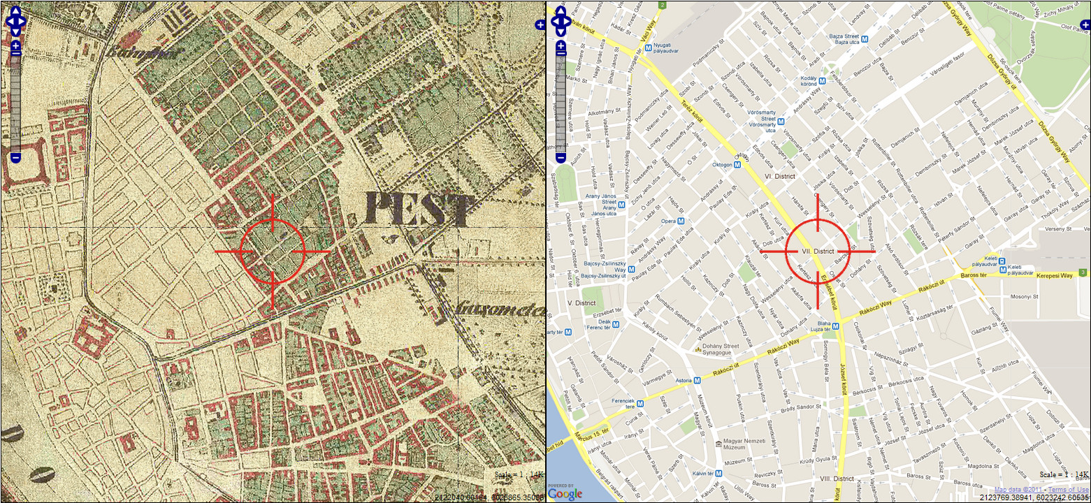 Old Budapest Budapest Regen Vii District Then 1860 S And Now