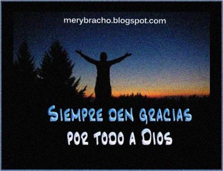 frases para dar gracias a Dios al Señor.