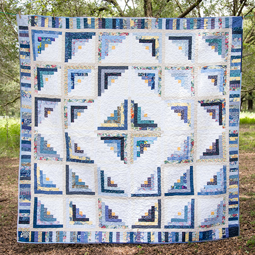 Cabin Fever Blues Quilt Free Pattern