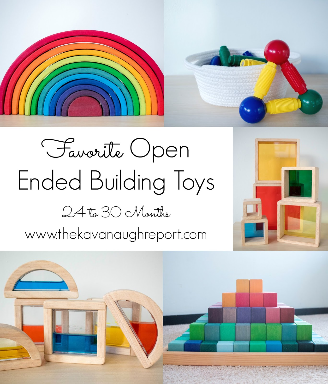 Here is a list of our favorite Montessori friendly toys between 24 and 30 months. These toys are perfect for 2-year-olds and other Montessori toddlers.