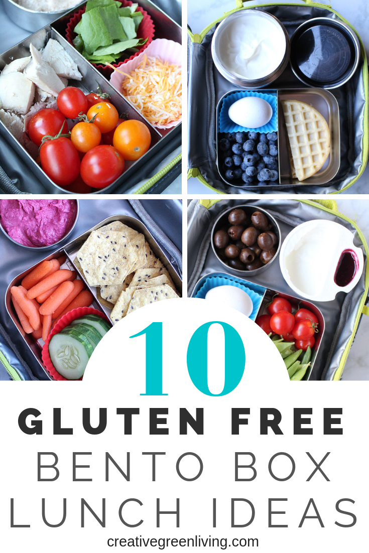 10 easy gluten free lunch ideas. These are all quick and healthy meals that are perfect for kids or for adults. Bring these simple bento box means to school, work or on the go.