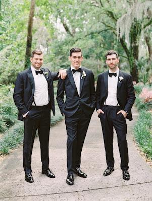 groomsmen trio