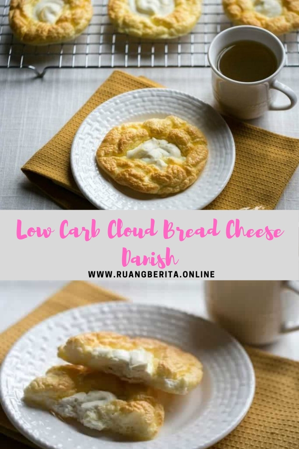 Low Carb Cloud Bread Cheese Danish #bread #breakfast #snack #lowcarb #cloud #cheese